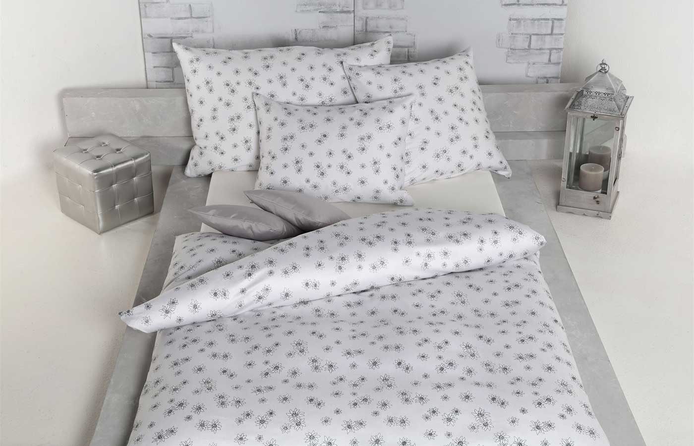 Bettwäsche Edelweiß grau