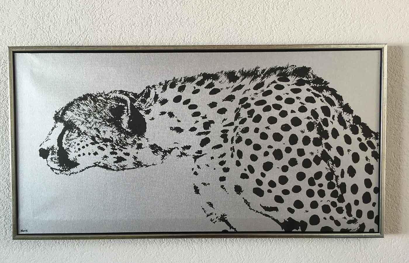 Kunstdruck auf Leinwand Gepard