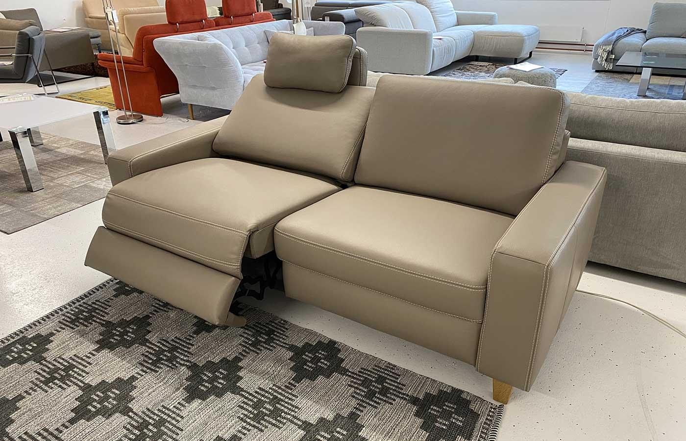 Sofa Dickleder taupe