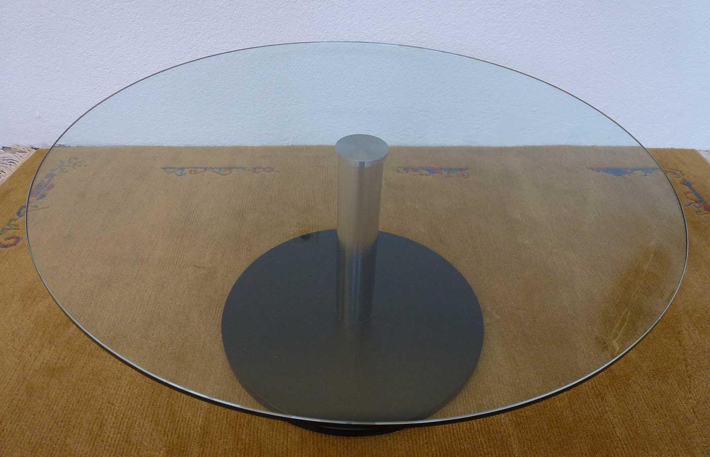 Salontisch Klarglas rund