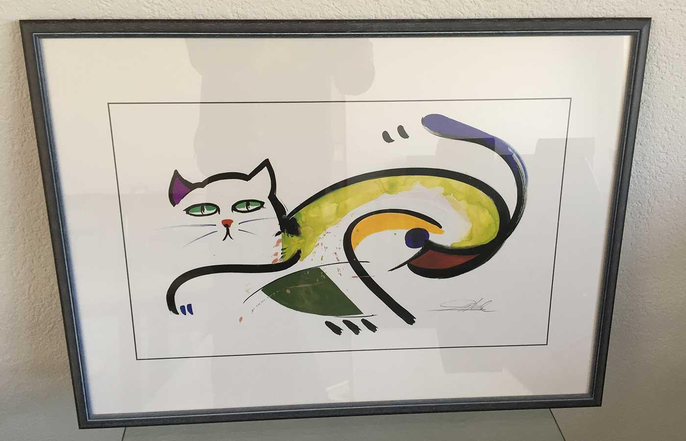 "Kunstdruck ""Katze"""