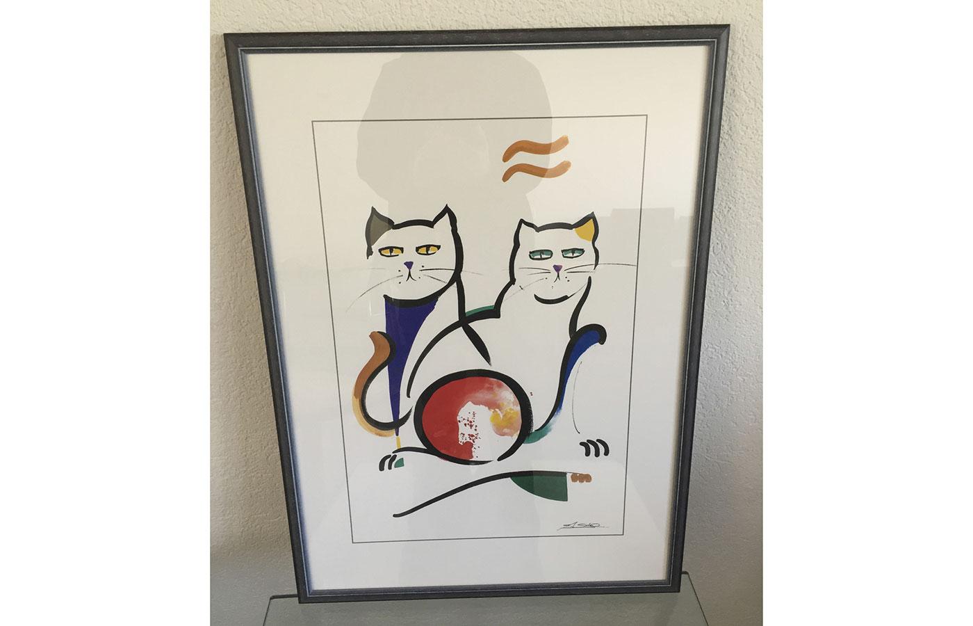 """Kunstdruck """"Katzen"""""""