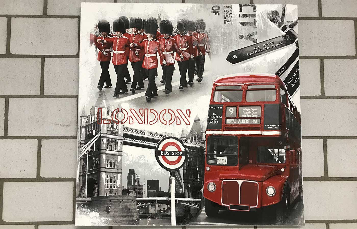 "Original auf Leinwand ""London"""