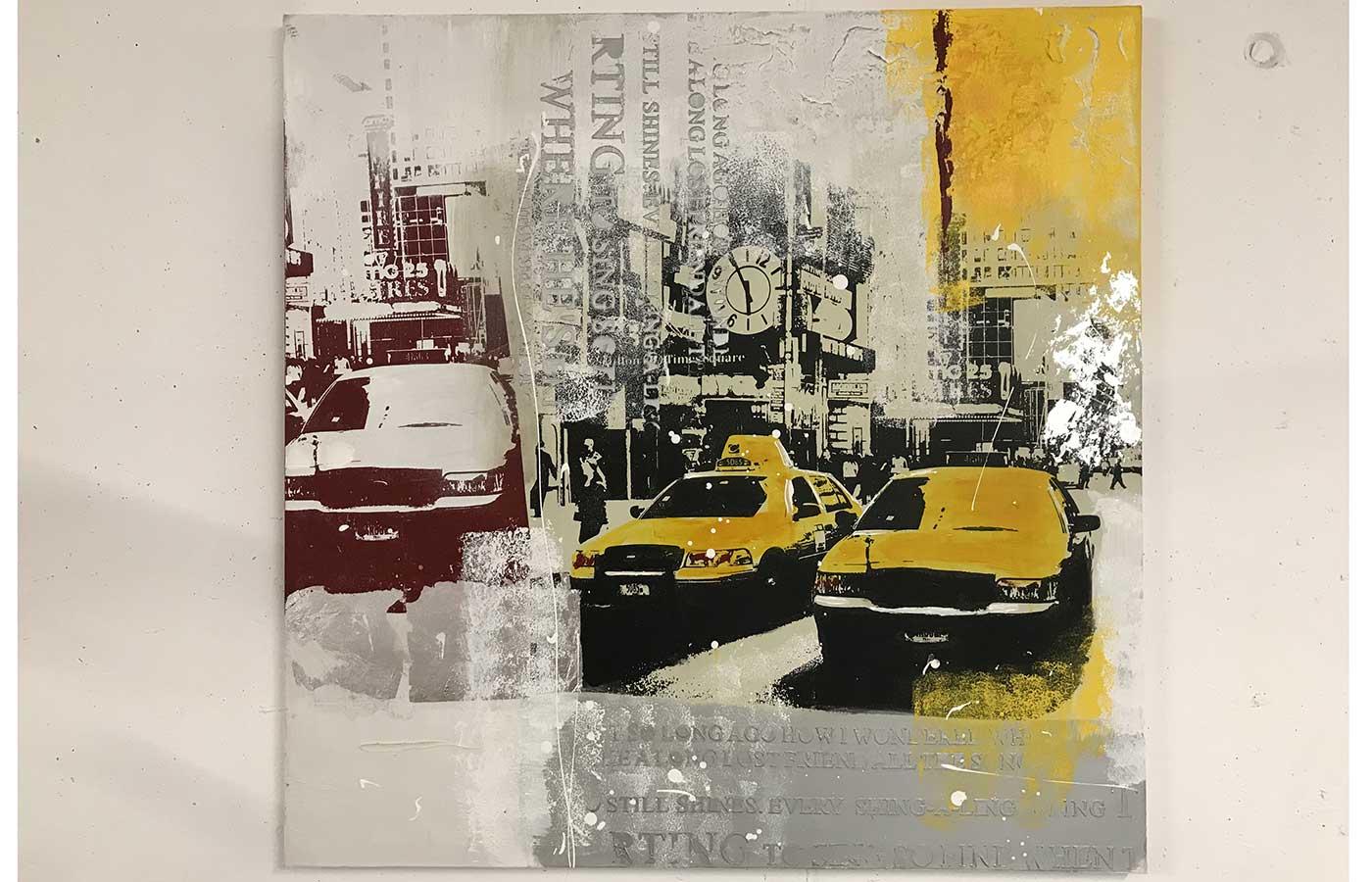 """Original auf Leinwand """"Times Square"""""""