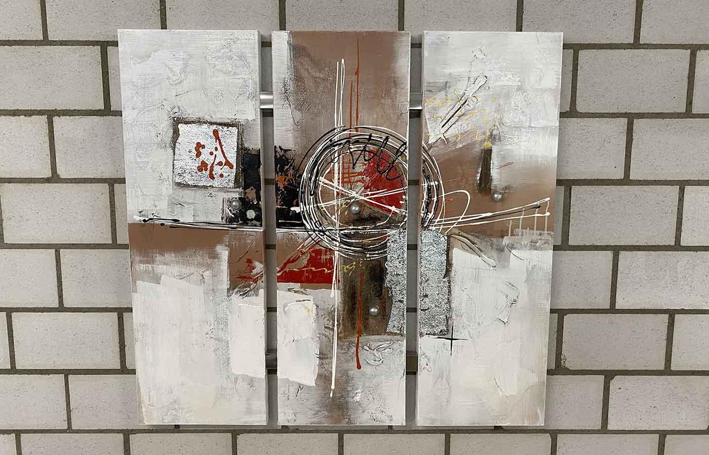 "Original auf Leinwand 3-teilig ""Abstrakt"""