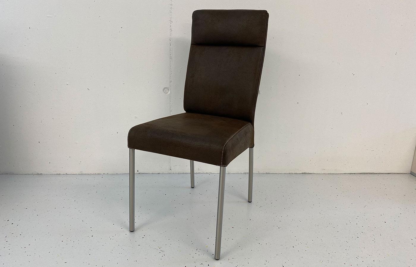 Stuhl Vintageleder braun