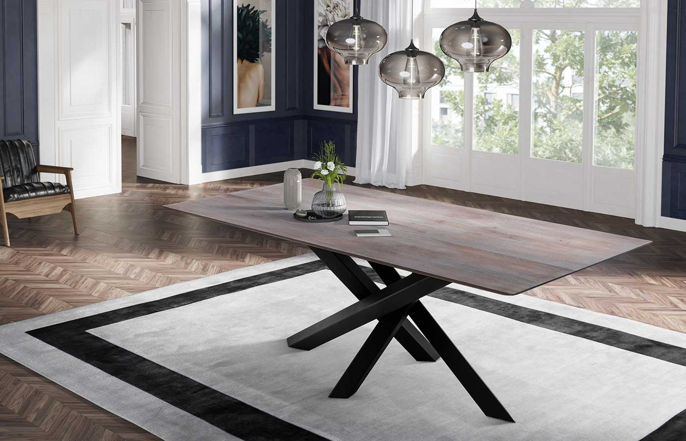Tisch Style mit X-Fuss